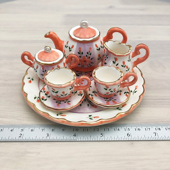 Miniature ceramic tea set #9