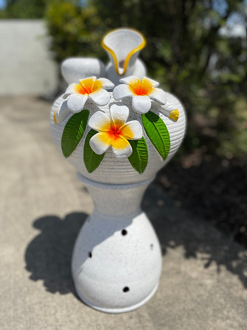 Terracotta water feature white