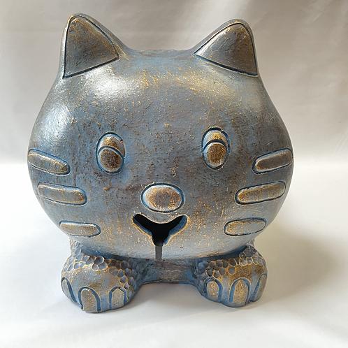 Terracotta cat kitty planter