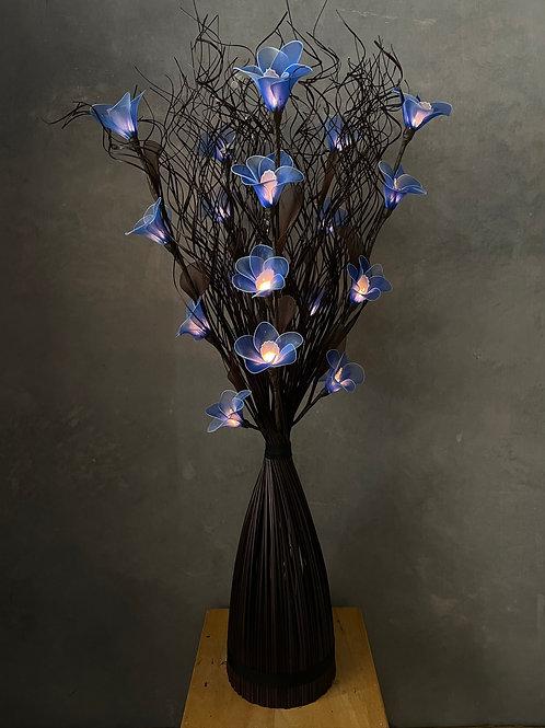 Curly stick black  dark blue orchid light