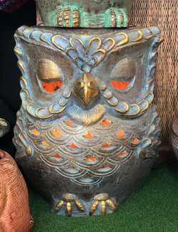 Terracotta owl seat blue