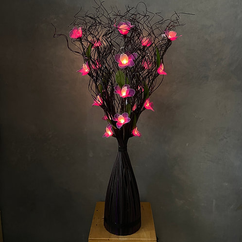 Curly stick black  ,purple orchid light