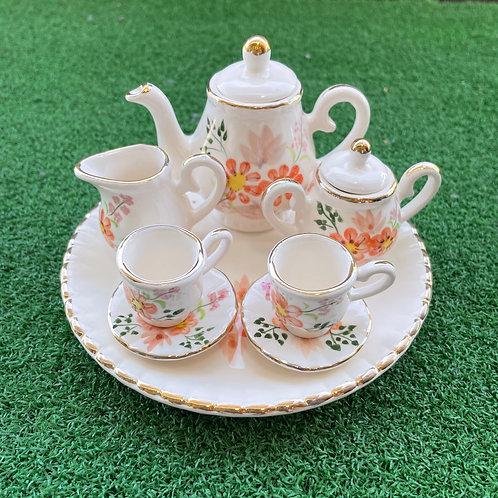 Miniature ceramic tea set wh or