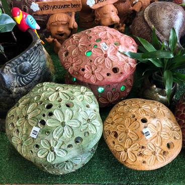 Terracotta toadstool