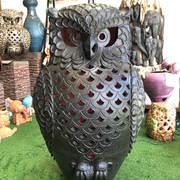 Terracotta owl ornament xlg