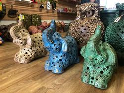 Terracotta elephant ornament