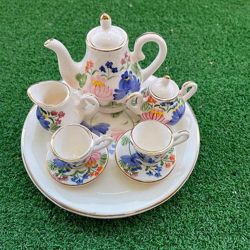 Miniature ceramic tea set wh anshan