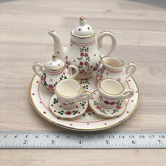 Miniature ceramic tea set #10