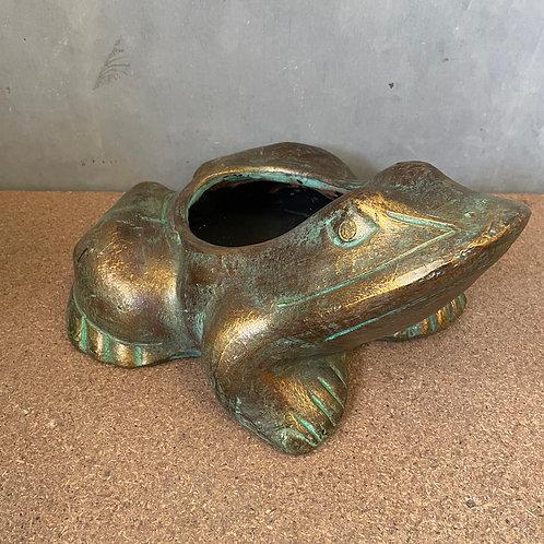 Terracotta frog planter sm