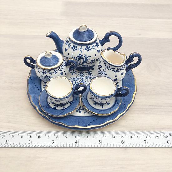 Miniature ceramic tea set #7