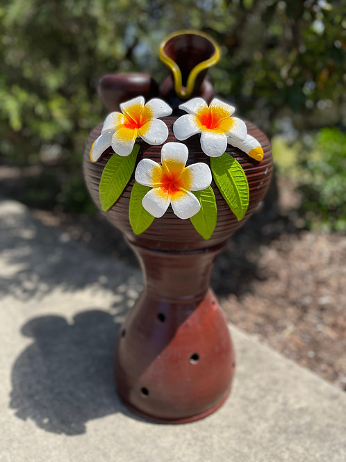 Terracotta water feature brown