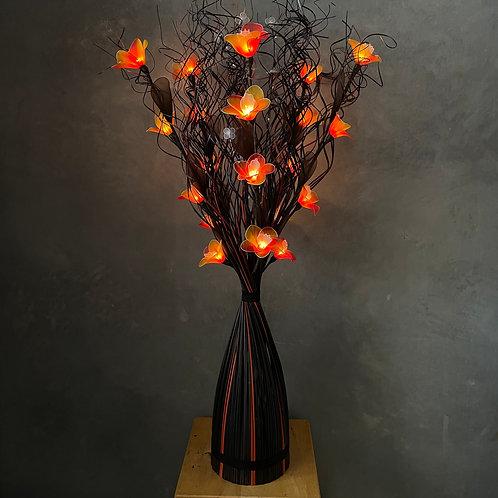 Curly stick black orange  ,orange orchid light