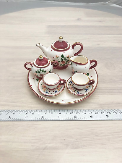 Miniature ceramic tea set #2