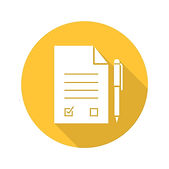 83752000-signed-contract-with-pen-flat-design-long-shadow-glyph-icon-agreement-vector-silh