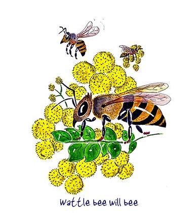 Wattle bee will bee
