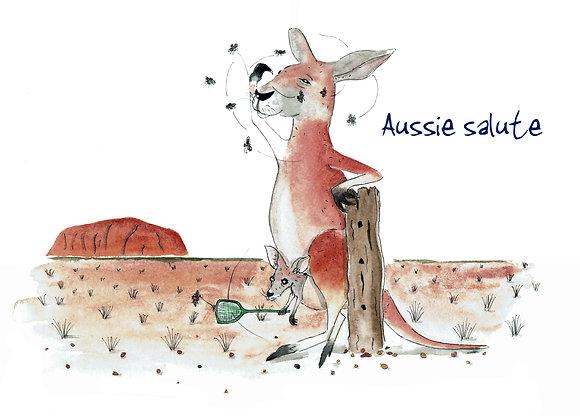 Aussie salute
