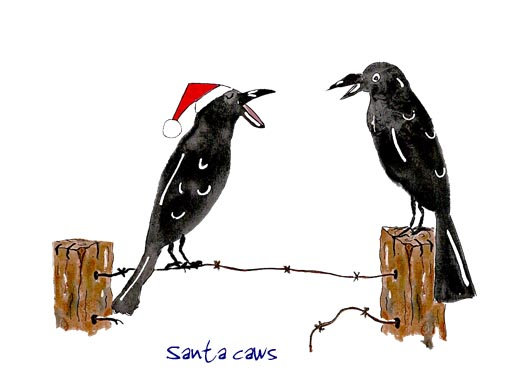 Santa caws