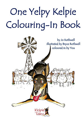 One Yelpy Kelpie Colouring-In Book