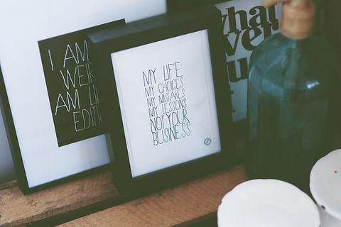 typografi Frame