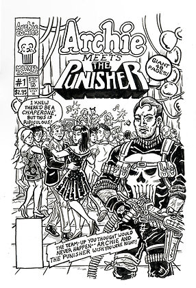 Cover Recreation - Archie Meets the Punisher Issue #1