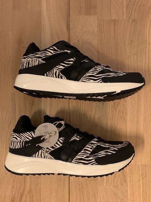 0402 Zwarte zebra sneaker Woden