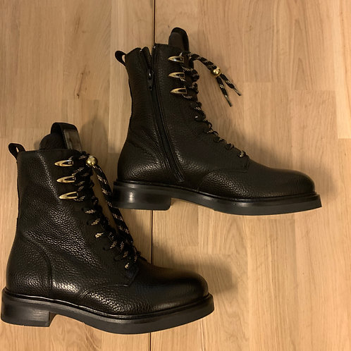 0142 Zwartleren biker boot ViaVai