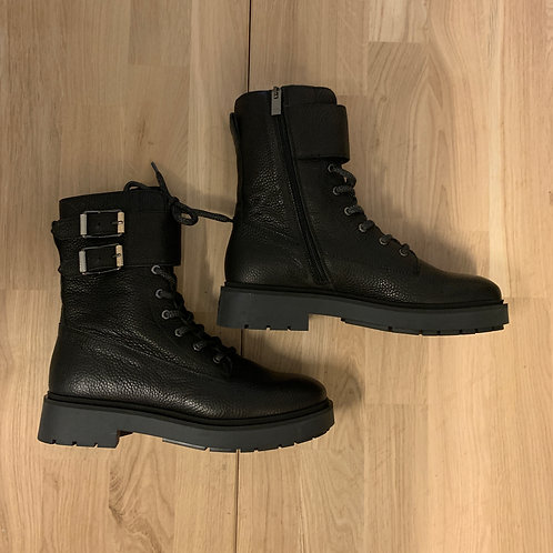 0141 Zwartleren biker boot ViaVai