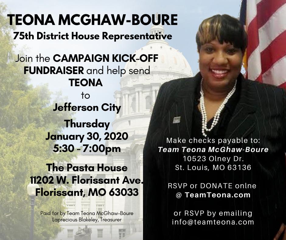 Teona McGhaw-Boure - campaign kick-off