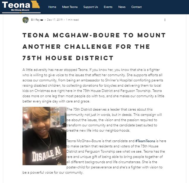Teona - blog post screenshot