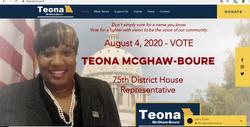 Team Teona - website screenshot