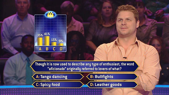 Jeff Burleson on Who Wants to Be a Millionaire
