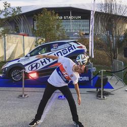 Show football Freestyle par Corentin BARON à Lyon pour l'olympique lyonnais et Hyundai. Animation en