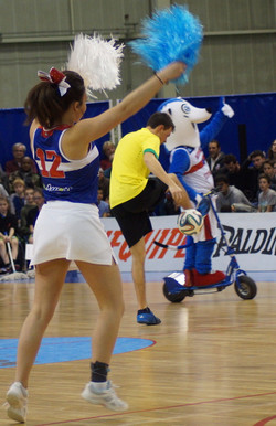 Show freestyle foot et pom pom girl