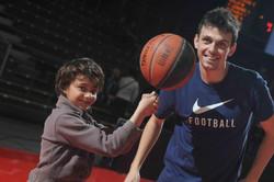 Cholet Mondial Basket Ball enfant cadet ballon spectacle animation demonstration