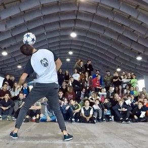 Démonstration Football Freestyle à Calais
