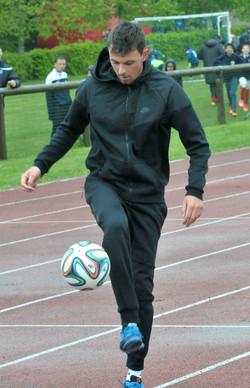 Corentin Baron Freestyle Football animation démonstration joueur ballon tournoi