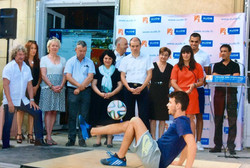 Football show Corentin Baron freestyle enfants jongleur démonstration animation