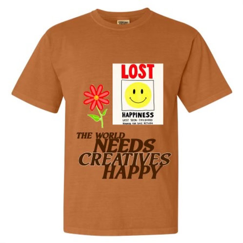 LOST HAPPINESS TEE - CREATE BY CHARLIE CHUCK