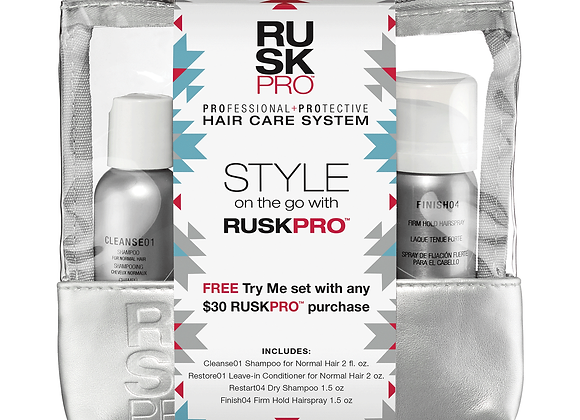 Rusk - Desert Bloom Rusk PRO Shampoo, Conditioner, Hairspray