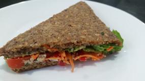 sandwich cru végétal