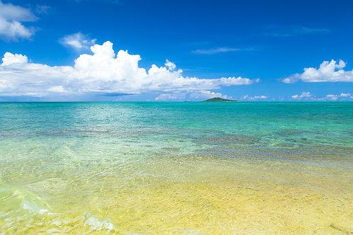 色彩豊かな池間島の海