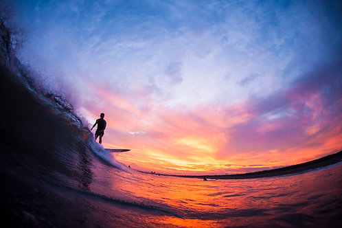 Shonan sunset surf