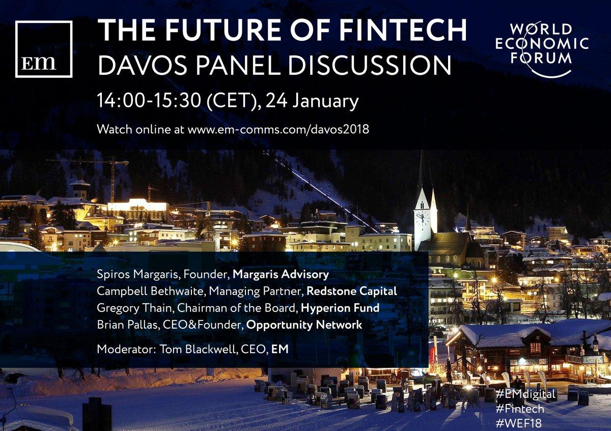 Spiros Margaris World Economic Forum (WEF) 2018