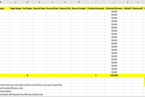 Audiobook Task Sheet Template
