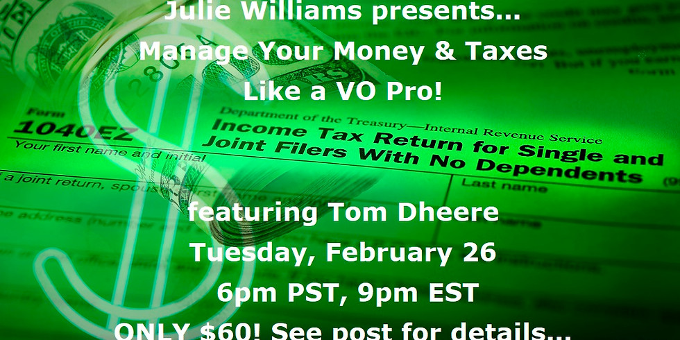 Manage Your Money & Taxes Like a VO Pro!