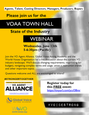 Voiceovers And The VO Agent Alliance Town Hall – The Not Silent Blog 6/19/18