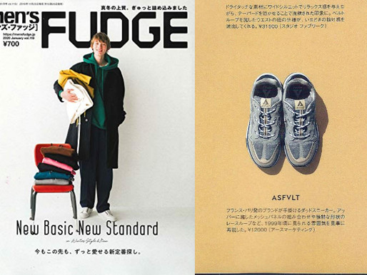 MEN'S FUDGE12月号掲載!!