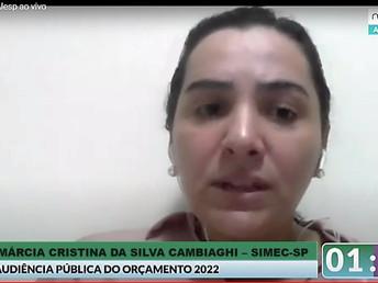 AUDIÊNCIAS PÚBLICAS ORÇAMENTÁRIAS: SIMEC-SP REIVINDICA RECURSOS PARA ATUAÇÃO NA JUSTIÇA GRATUITA