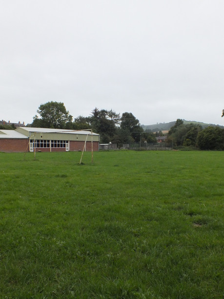 Full length of playing field.