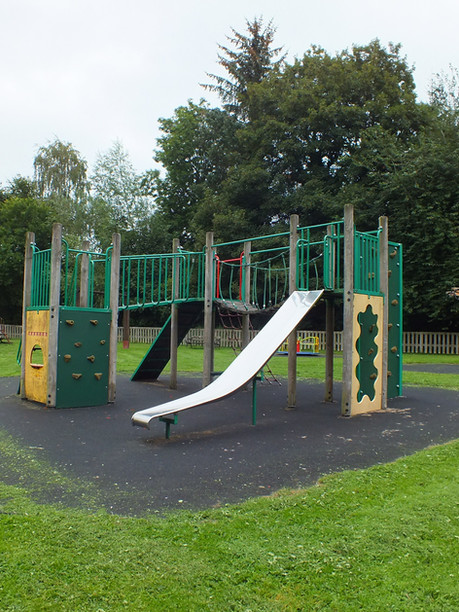 One of two climbing frames